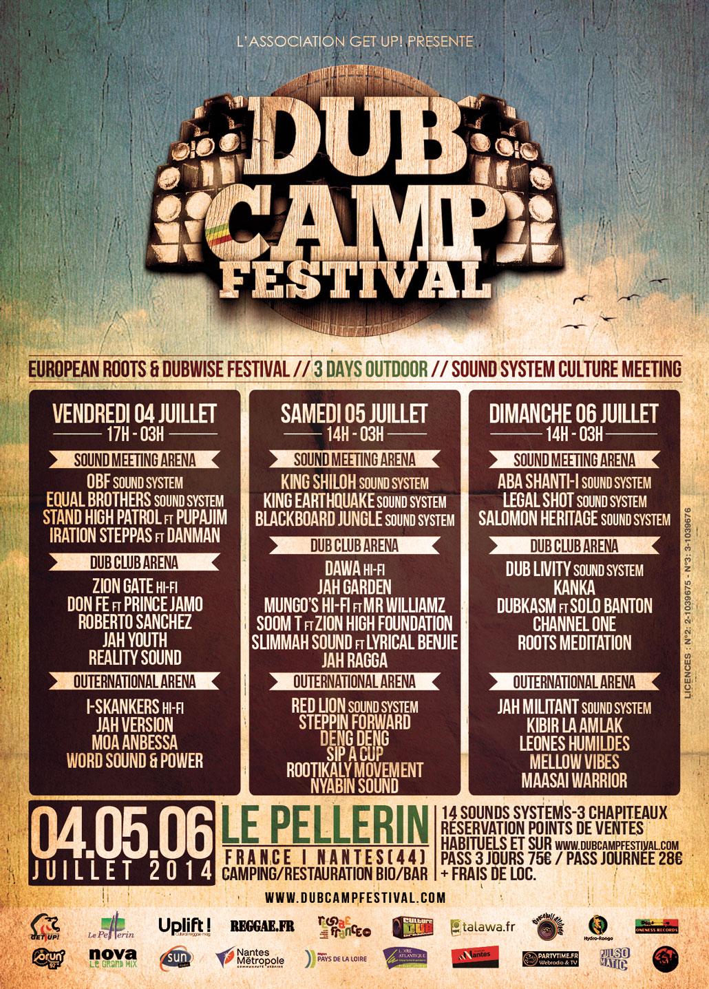 ekg-design, Dub Camp Festival #1 2014-Flyer