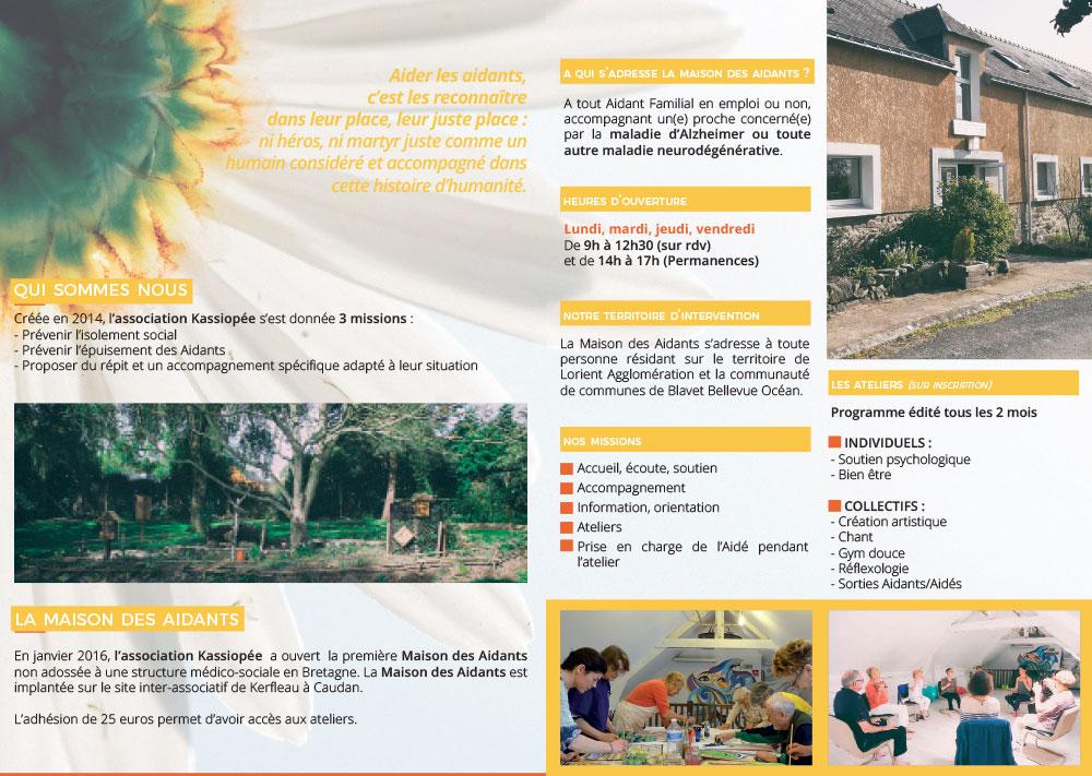 ekg-design, association Kassiopée Brochure
